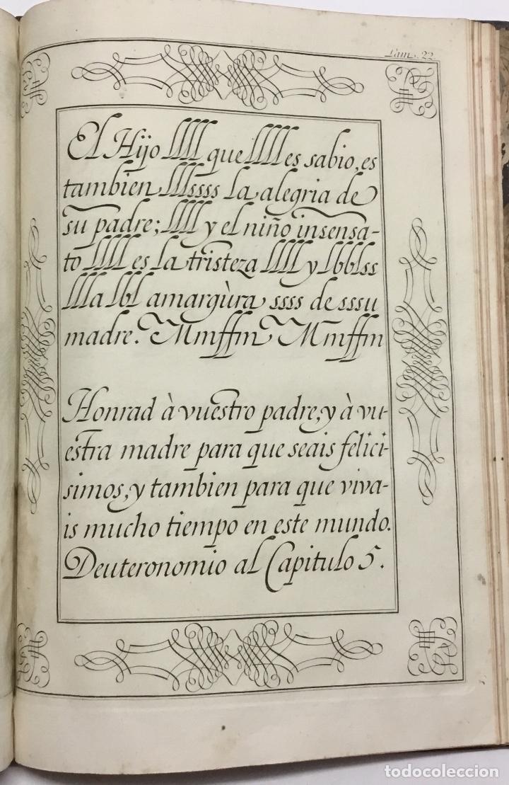 Libros antiguos: PALOMARES. ARTE NUEVA DE ESCRIBIR.... SANCHA. MADRID, 1776. 40 GRABADOS ASSENSIO Y MEJORADA - Foto 9 - 145707150