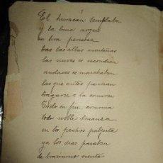 Libros antiguos: EL HURACAN TEMBLABA LIBRO ANTIGUO MANUSCRITO O GALERADAS INEDITO . Lote 145790490
