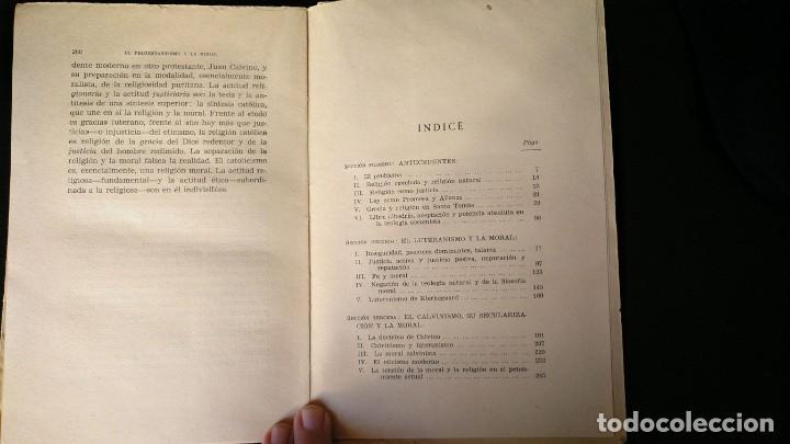 EL PROTESTANTISMO Y LA MORAL. JOSE LUIS ARANGUREN. ED. SAPIENTIA, 1954 (Libros Antiguos, Raros y Curiosos - Pensamiento - Otros)