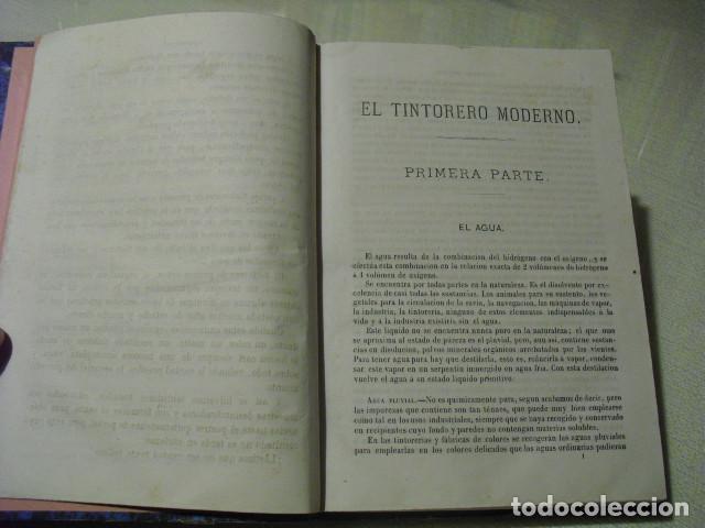 Libros antiguos: 1879 EL TINTORERO MODERNO JORGE JARMAIN - Foto 3 - 145841974
