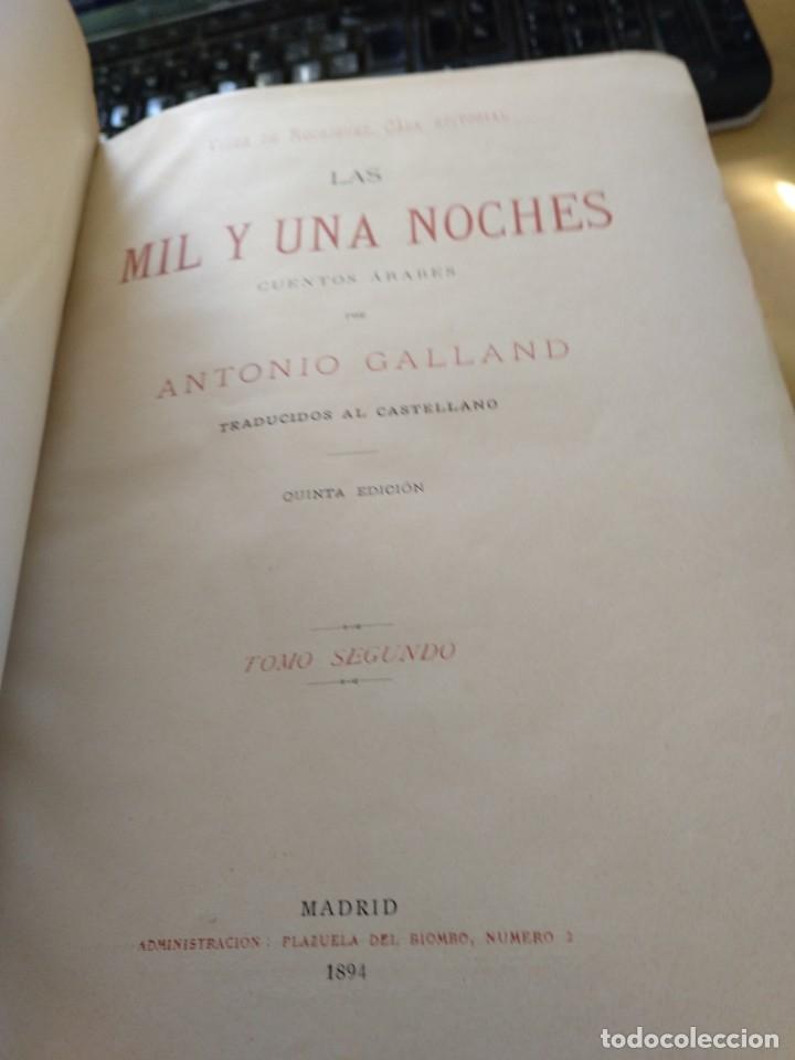Libros antiguos: Galland Antonio LAS MIL Y UNA NOCHES (2 tomos) Molinas y Maza GASTOS DE ENVIO GRATIS - Foto 7 - 6298914