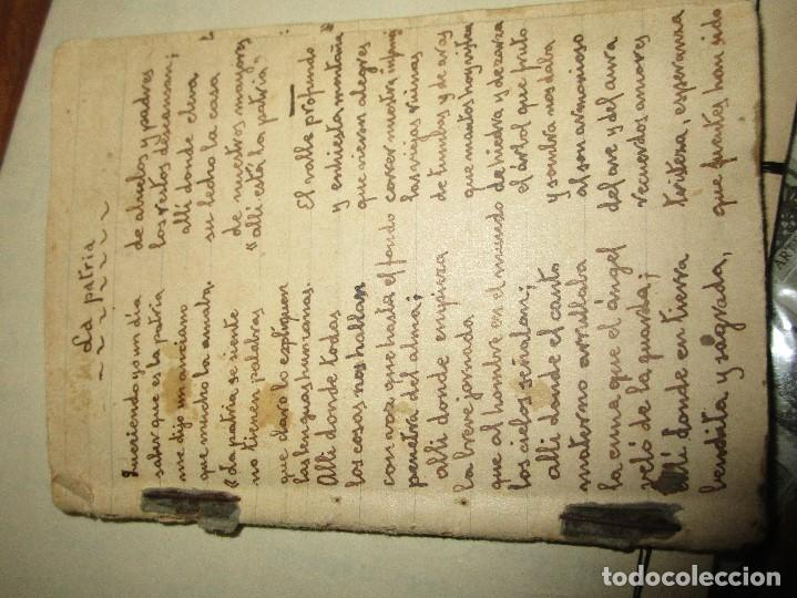 Libros antiguos: LIBRITO MANUSCRITO CARACTER MILITAR POESIA DIBUJOS BANDERAS MORSE - Foto 2 - 146009814