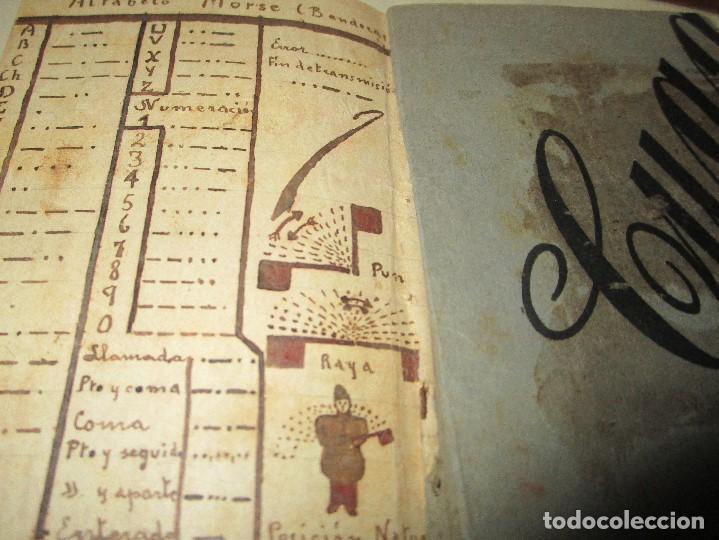 Libros antiguos: LIBRITO MANUSCRITO CARACTER MILITAR POESIA DIBUJOS BANDERAS MORSE - Foto 3 - 146009814
