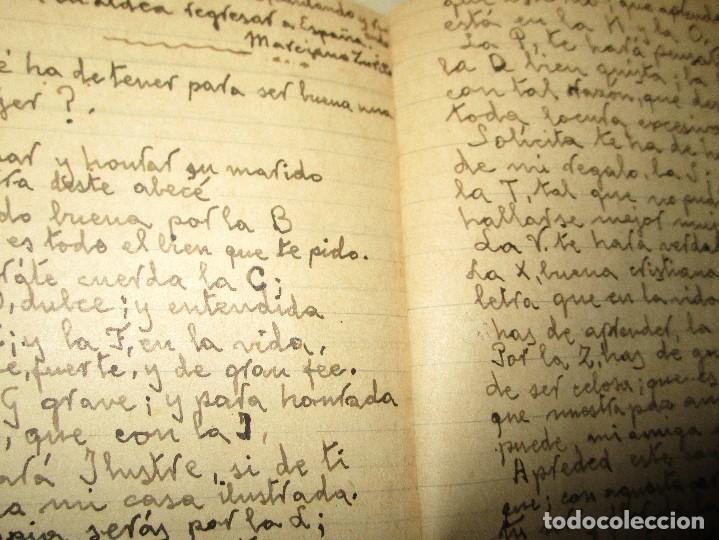 Libros antiguos: LIBRITO MANUSCRITO CARACTER MILITAR POESIA DIBUJOS BANDERAS MORSE - Foto 5 - 146009814
