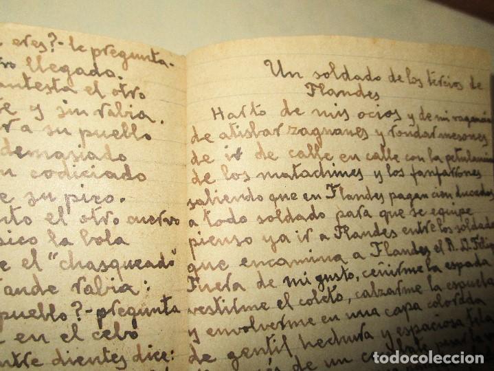 Libros antiguos: LIBRITO MANUSCRITO CARACTER MILITAR POESIA DIBUJOS BANDERAS MORSE - Foto 6 - 146009814