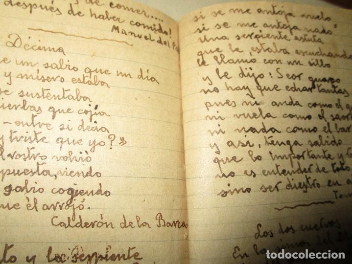 Libros antiguos: LIBRITO MANUSCRITO CARACTER MILITAR POESIA DIBUJOS BANDERAS MORSE - Foto 7 - 146009814