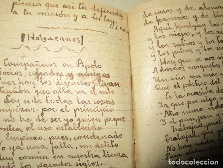 Libros antiguos: LIBRITO MANUSCRITO CARACTER MILITAR POESIA DIBUJOS BANDERAS MORSE - Foto 8 - 146009814