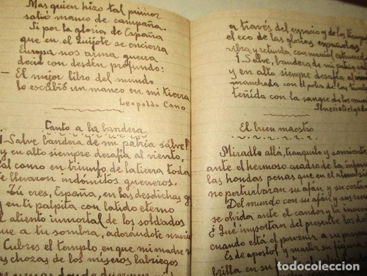 Libros antiguos: LIBRITO MANUSCRITO CARACTER MILITAR POESIA DIBUJOS BANDERAS MORSE - Foto 9 - 146009814