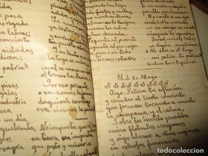 Libros antiguos: LIBRITO MANUSCRITO CARACTER MILITAR POESIA DIBUJOS BANDERAS MORSE - Foto 10 - 146009814