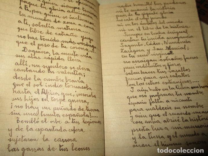 Libros antiguos: LIBRITO MANUSCRITO CARACTER MILITAR POESIA DIBUJOS BANDERAS MORSE - Foto 11 - 146009814