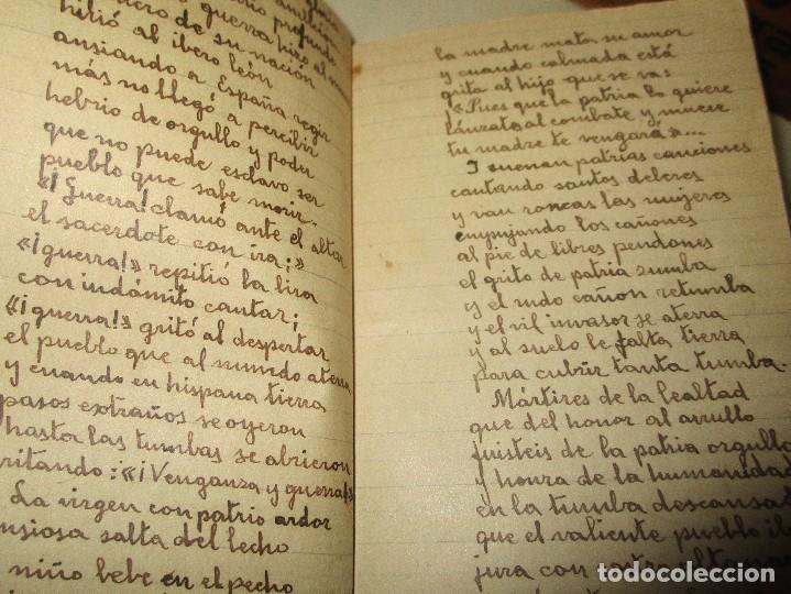Libros antiguos: LIBRITO MANUSCRITO CARACTER MILITAR POESIA DIBUJOS BANDERAS MORSE - Foto 12 - 146009814