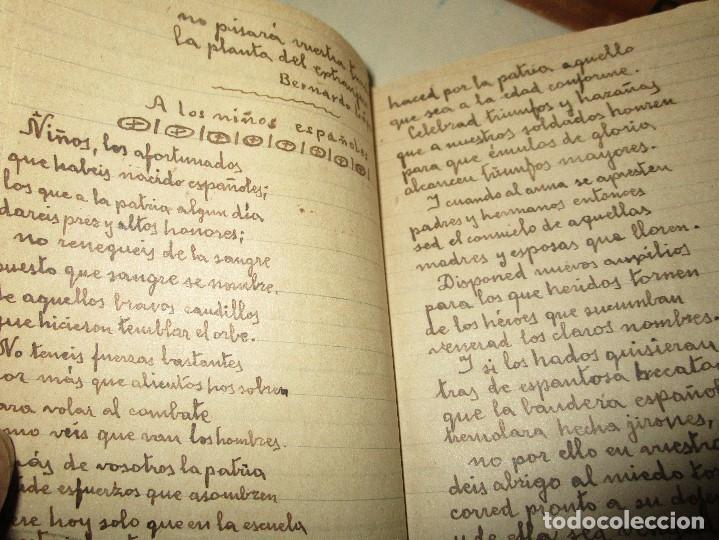 Libros antiguos: LIBRITO MANUSCRITO CARACTER MILITAR POESIA DIBUJOS BANDERAS MORSE - Foto 13 - 146009814