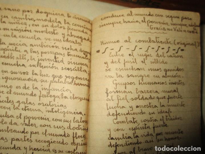 Libros antiguos: LIBRITO MANUSCRITO CARACTER MILITAR POESIA DIBUJOS BANDERAS MORSE - Foto 14 - 146009814