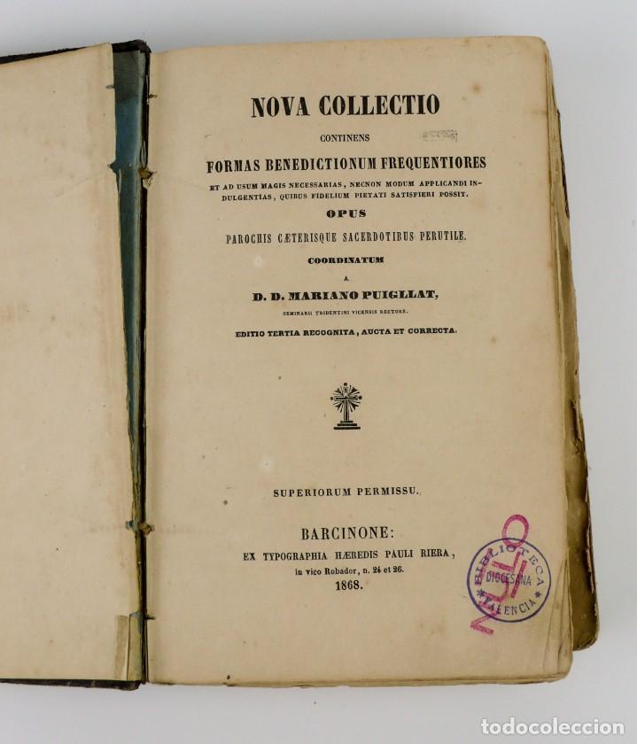 Libros antiguos: D.D.Mariano Puigllat-Nova Collectio - Libro de exorcismos y Bendiciones - año 1868 - Foto 11 - 146152602