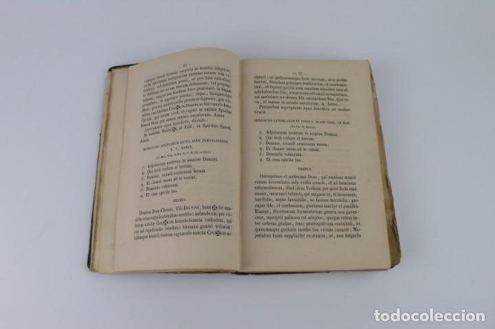 Libros antiguos: D.D.Mariano Puigllat-Nova Collectio - Libro de exorcismos y Bendiciones - año 1868 - Foto 18 - 146152602