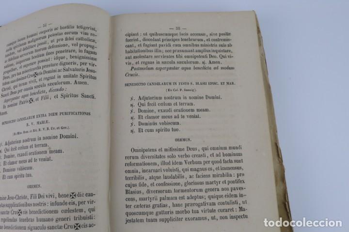 Libros antiguos: D.D.Mariano Puigllat-Nova Collectio - Libro de exorcismos y Bendiciones - año 1868 - Foto 19 - 146152602