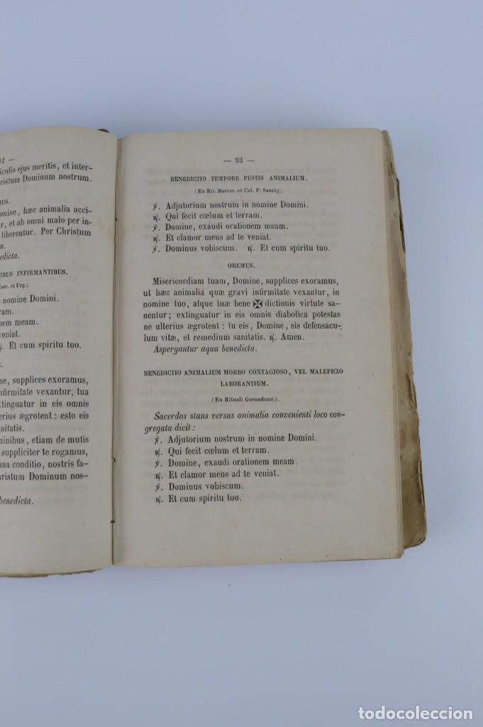 Libros antiguos: D.D.Mariano Puigllat-Nova Collectio - Libro de exorcismos y Bendiciones - año 1868 - Foto 20 - 146152602