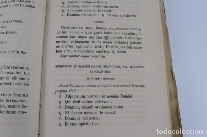 Libros antiguos: D.D.Mariano Puigllat-Nova Collectio - Libro de exorcismos y Bendiciones - año 1868 - Foto 21 - 146152602