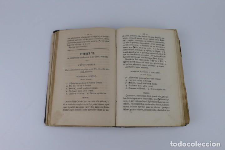 Libros antiguos: D.D.Mariano Puigllat-Nova Collectio - Libro de exorcismos y Bendiciones - año 1868 - Foto 22 - 146152602