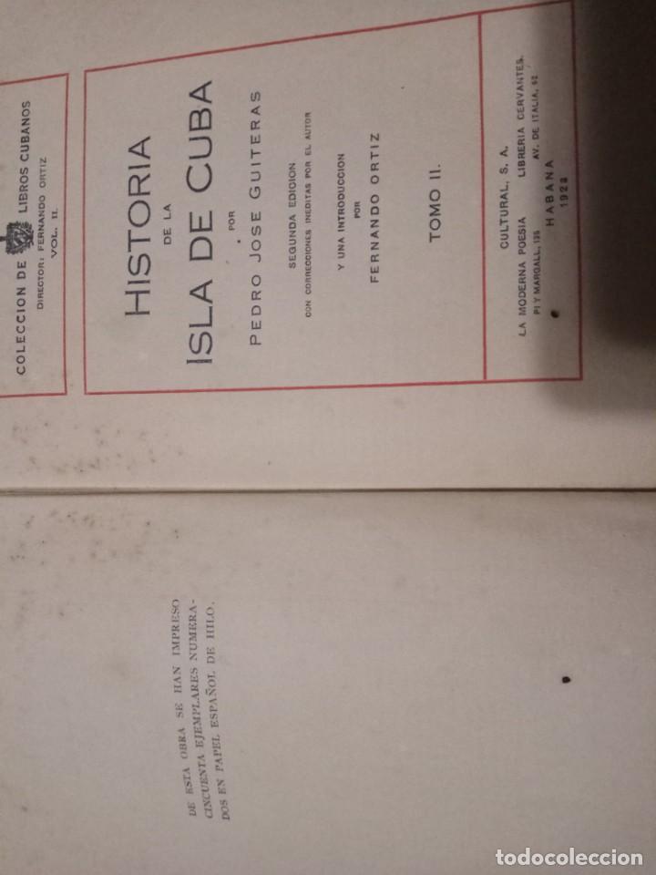 Libros antiguos: HISTORIA DE LA ISLA DE CUBA-PEDRO JOSE GUITERAS.2 TOMOS.ESCASO. - Foto 6 - 146163006