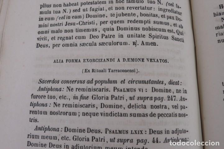 Libros antiguos: D.D.Mariano Puigllat-Nova Collectio - Libro de exorcismos y Bendiciones - año 1868 - Foto 6 - 146152602