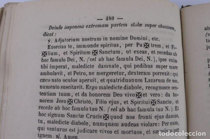 Libros antiguos: D.D.Mariano Puigllat-Nova Collectio - Libro de exorcismos y Bendiciones - año 1868 - Foto 15 - 146152602
