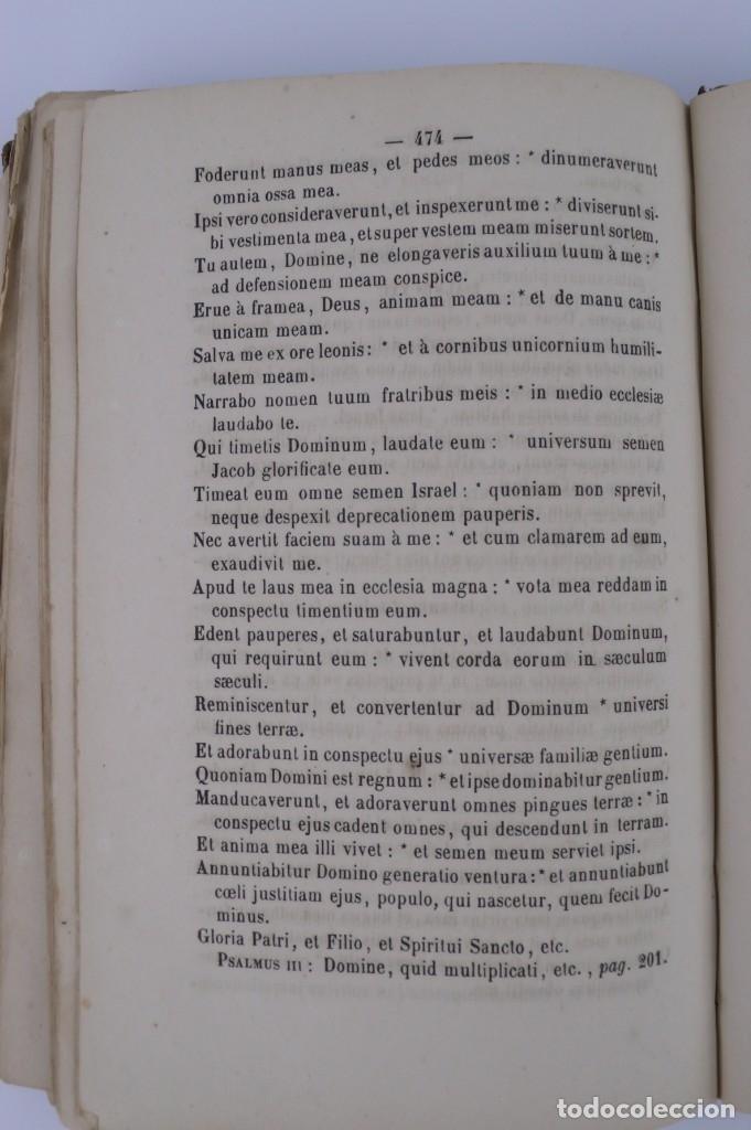 Libros antiguos: D.D.Mariano Puigllat-Nova Collectio - Libro de exorcismos y Bendiciones - año 1868 - Foto 13 - 146152602