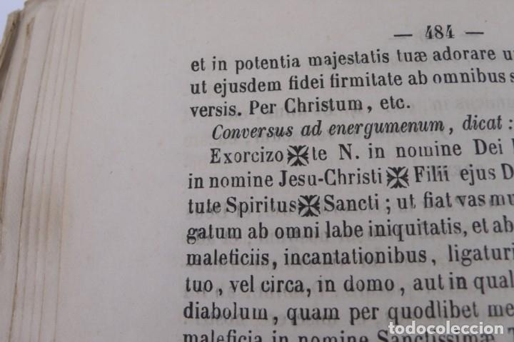 Libros antiguos: D.D.Mariano Puigllat-Nova Collectio - Libro de exorcismos y Bendiciones - año 1868 - Foto 16 - 146152602