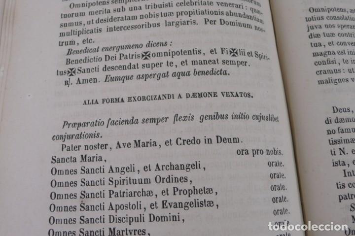 Libros antiguos: D.D.Mariano Puigllat-Nova Collectio - Libro de exorcismos y Bendiciones - año 1868 - Foto 17 - 146152602