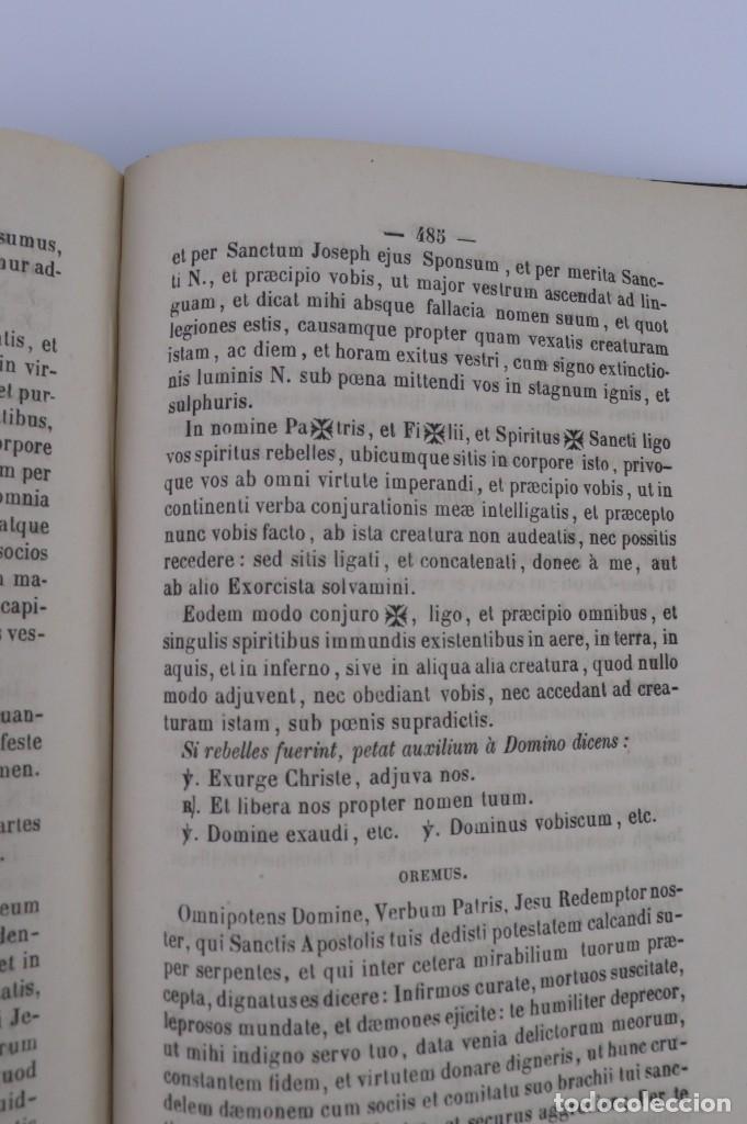 Libros antiguos: D.D.Mariano Puigllat-Nova Collectio - Libro de exorcismos y Bendiciones - año 1868 - Foto 23 - 146152602