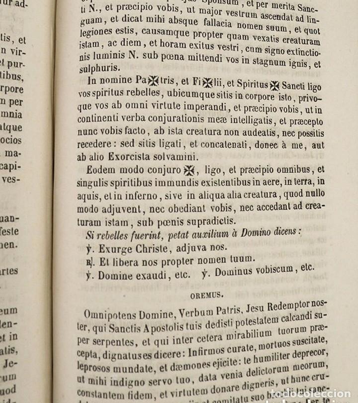 Libros antiguos: D.D.Mariano Puigllat-Nova Collectio - Libro de exorcismos y Bendiciones - año 1868 - Foto 9 - 146152602