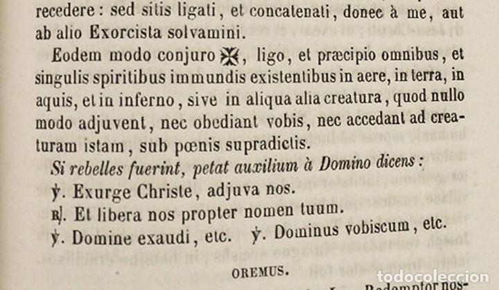 Libros antiguos: D.D.Mariano Puigllat-Nova Collectio - Libro de exorcismos y Bendiciones - año 1868 - Foto 10 - 146152602