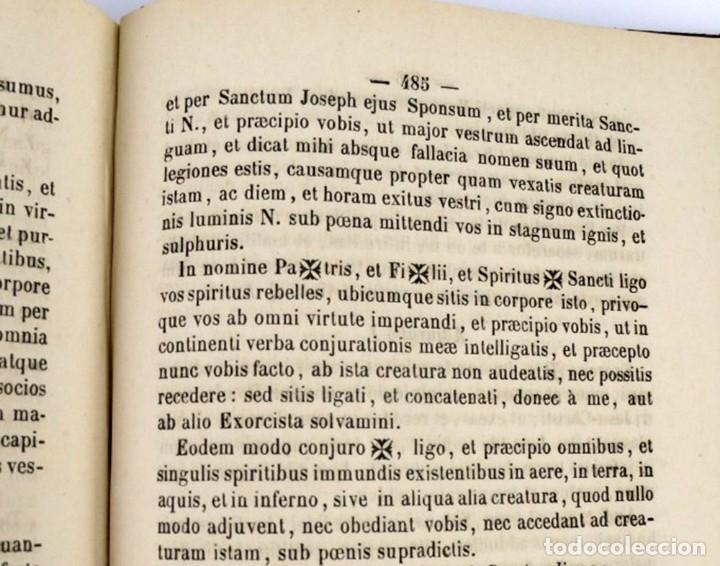 Libros antiguos: D.D.Mariano Puigllat-Nova Collectio - Libro de exorcismos y Bendiciones - año 1868 - Foto 24 - 146152602