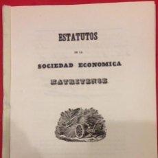 Libros antiguos: ESTATUTOS DE LA SOCIEDAD ECONOMICA MATRITENSE MADRID 1849. Lote 146275058