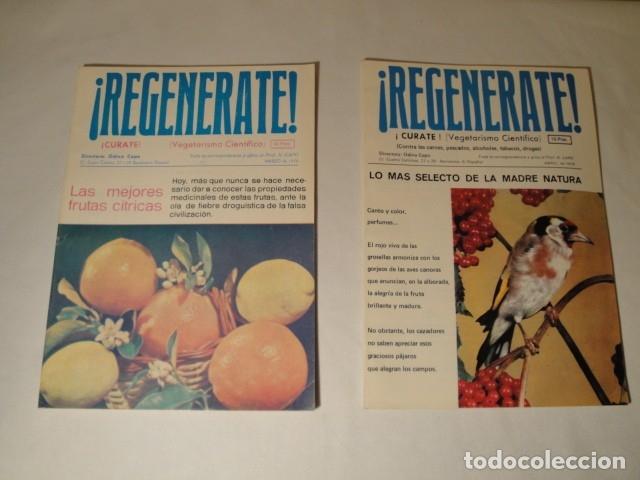 Libros antiguos: Revistas:REGENÉRATE,Director: N. Capo.Enero-Febrero- Marzo-Abril-Mayo-Junio-Agosto y Septiembre 1976 - Foto 3 - 145351106