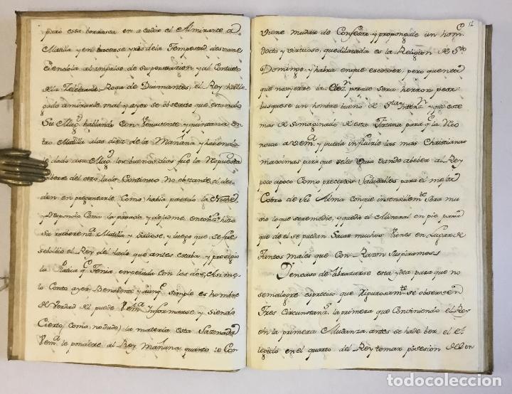 Libros antiguos: [RELACIÓN SOBRE EL PROCESO CONTRA FRAY FROILÁN DÍAZ, CONFESOR DE CARLOS II...] MANUSCRITO - Foto 3 - 146401774