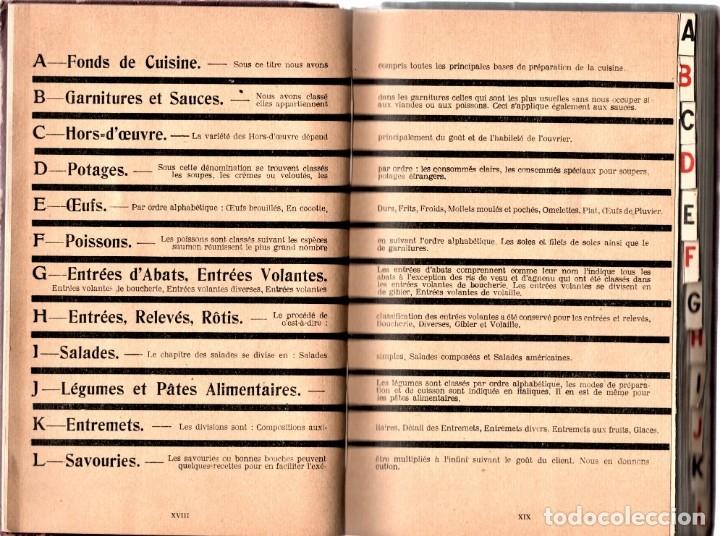 Libros antiguos: ANTIGUO LIBRO COCINA-GASTRONOMIA FRANCESA,AÑO1923,DIRECTORIO DE COCINA,COCINEROS Y CHEFS,7000 PLATOS - Foto 3 - 146437730