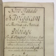 Libros antiguos: MANUSCRITO. 1770. TRATADO DE NAVEGACIÓN. LÁMINAS DESPLEGABLES GLOBO TERRAQUEO CARTAS NAUTICAS...... Lote 146493314