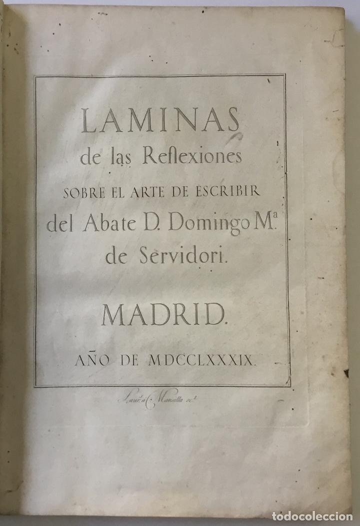 LAMINAS DE LAS REFLEXIONES SOBRE EL ARTE DE ESCRIBIR. 108 LÁMINAS. ALFABETOS INSTRUMENTOS ESCRITURA (Libros Antiguos, Raros y Curiosos - Bellas artes, ocio y coleccionismo - Otros)