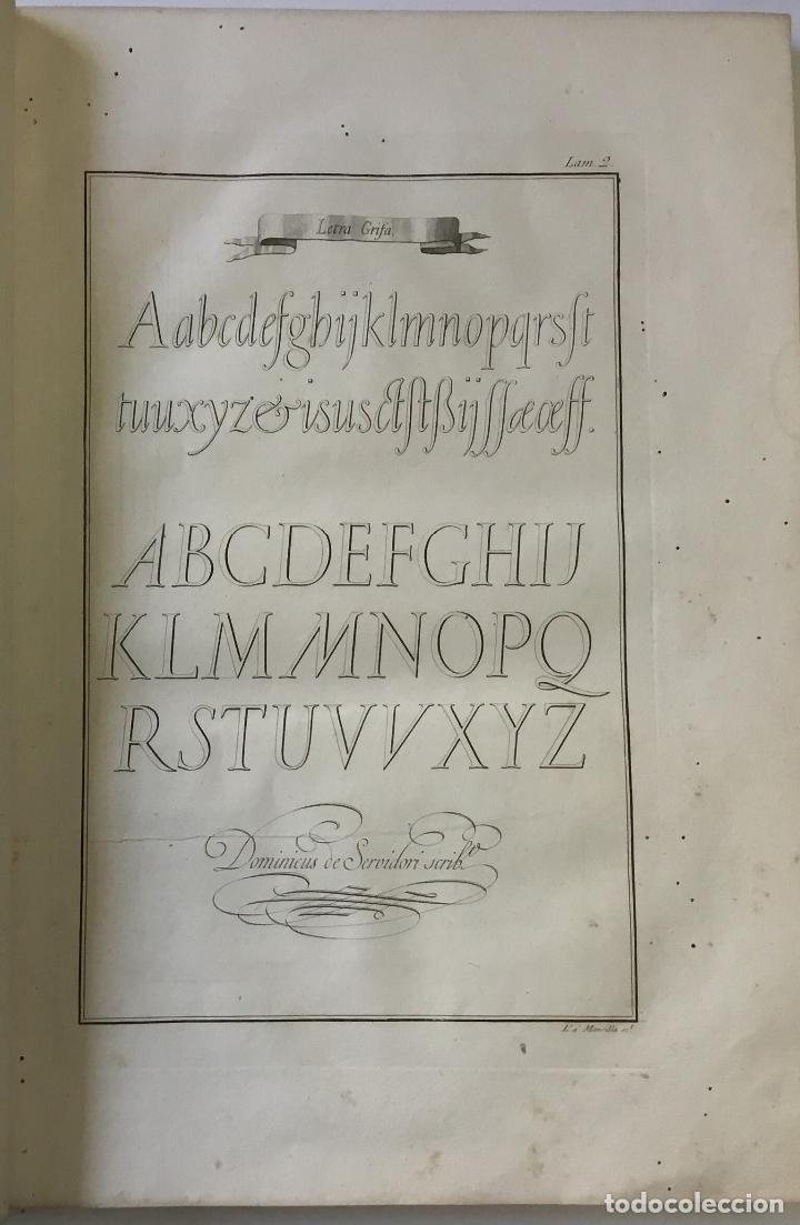 Libros antiguos: LAMINAS DE LAS REFLEXIONES SOBRE EL ARTE DE ESCRIBIR. 108 láminas. alfabetos instrumentos escritura - Foto 2 - 146509702