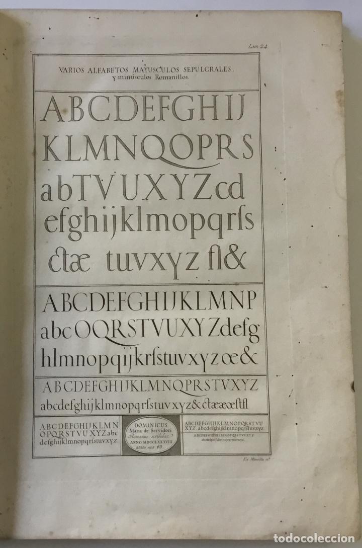 Libros antiguos: LAMINAS DE LAS REFLEXIONES SOBRE EL ARTE DE ESCRIBIR. 108 láminas. alfabetos instrumentos escritura - Foto 3 - 146509702