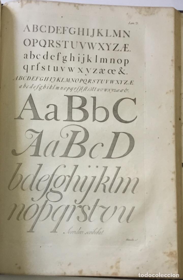 Libros antiguos: LAMINAS DE LAS REFLEXIONES SOBRE EL ARTE DE ESCRIBIR. 108 láminas. alfabetos instrumentos escritura - Foto 4 - 146509702