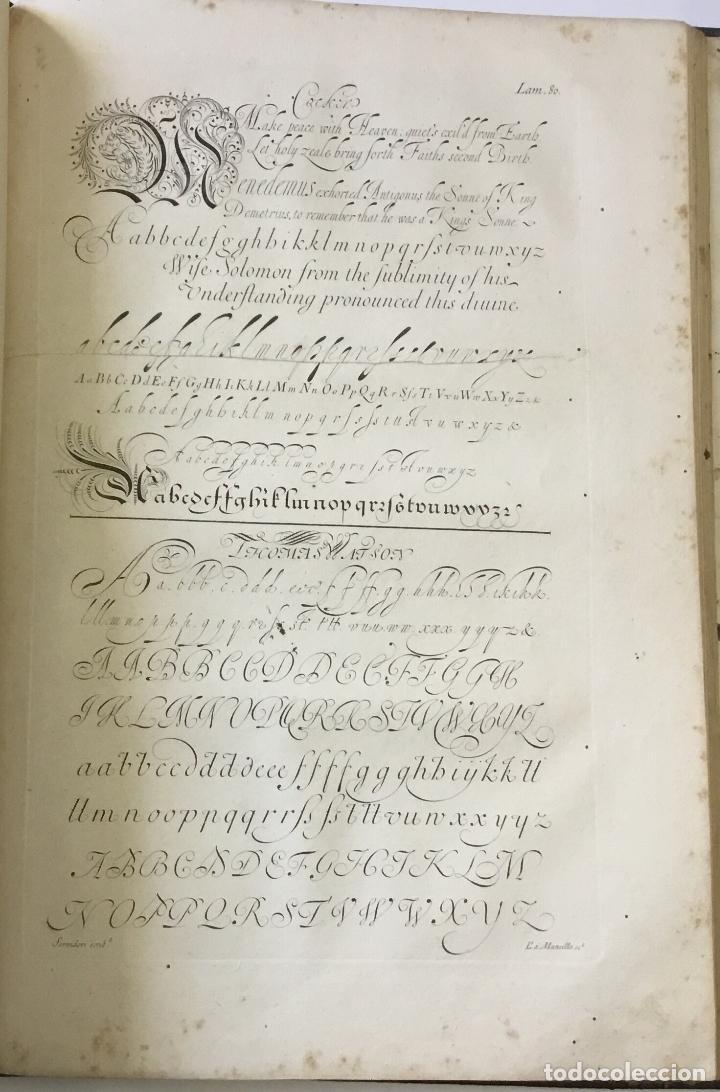 Libros antiguos: LAMINAS DE LAS REFLEXIONES SOBRE EL ARTE DE ESCRIBIR. 108 láminas. alfabetos instrumentos escritura - Foto 6 - 146509702