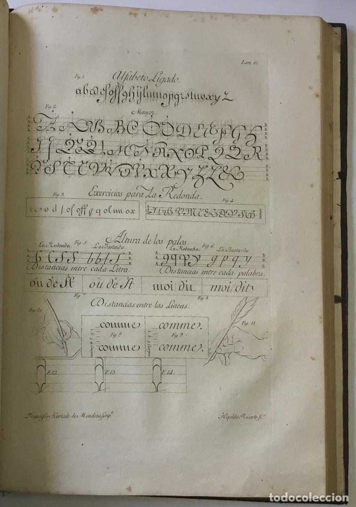 Libros antiguos: LAMINAS DE LAS REFLEXIONES SOBRE EL ARTE DE ESCRIBIR. 108 láminas. alfabetos instrumentos escritura - Foto 8 - 146509702