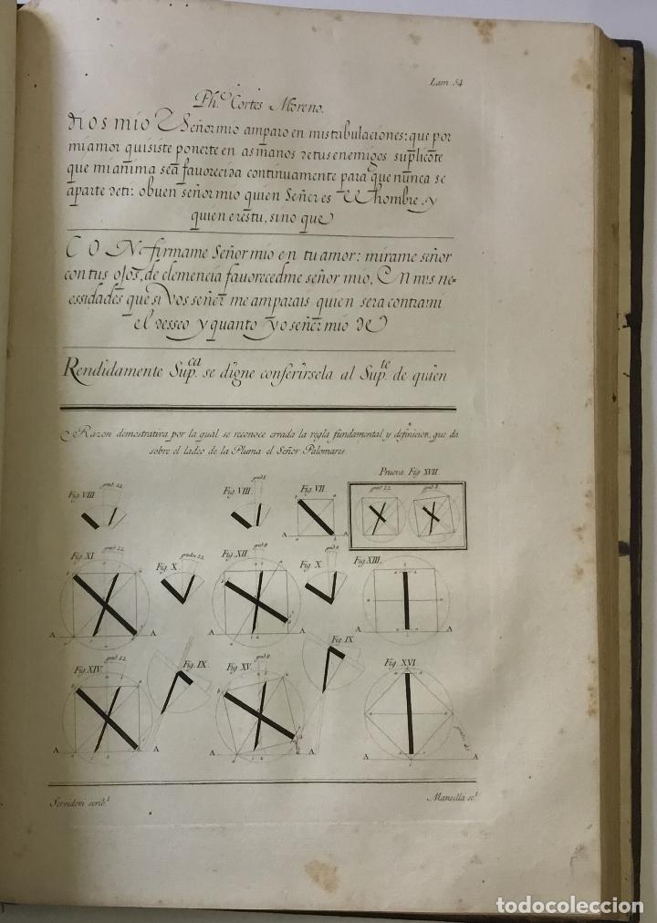 Libros antiguos: LAMINAS DE LAS REFLEXIONES SOBRE EL ARTE DE ESCRIBIR. 108 láminas. alfabetos instrumentos escritura - Foto 9 - 146509702