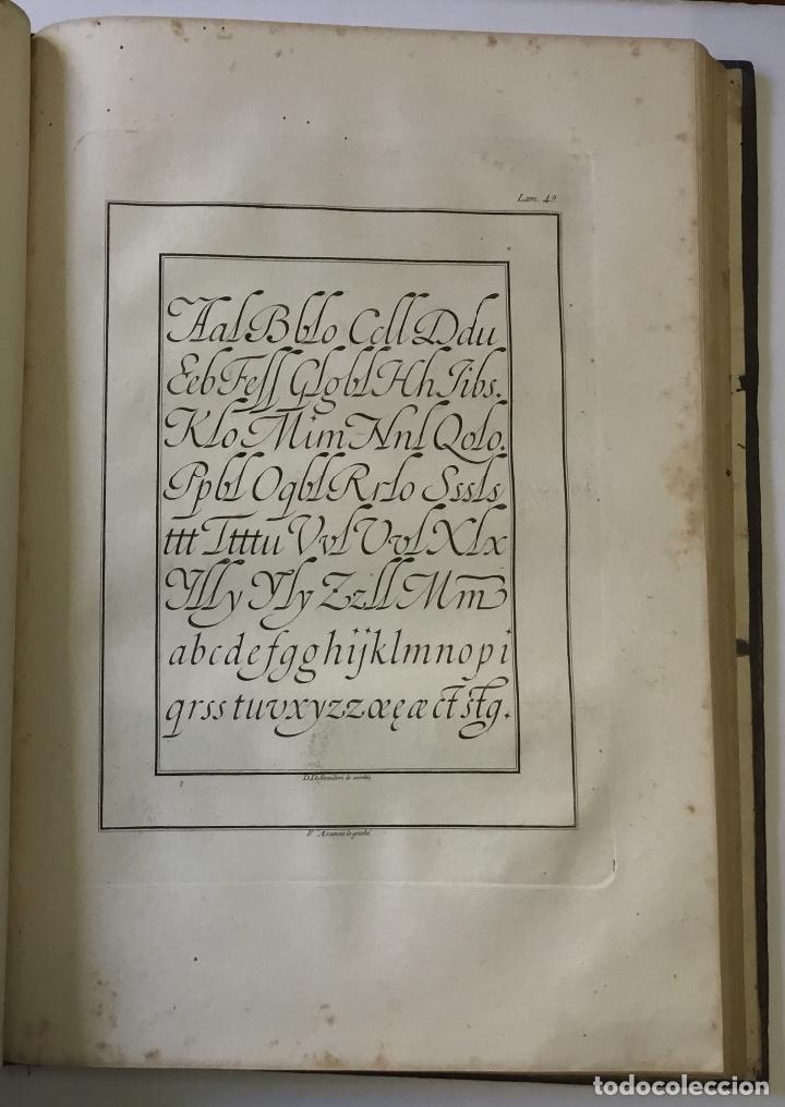 Libros antiguos: LAMINAS DE LAS REFLEXIONES SOBRE EL ARTE DE ESCRIBIR. 108 láminas. alfabetos instrumentos escritura - Foto 10 - 146509702