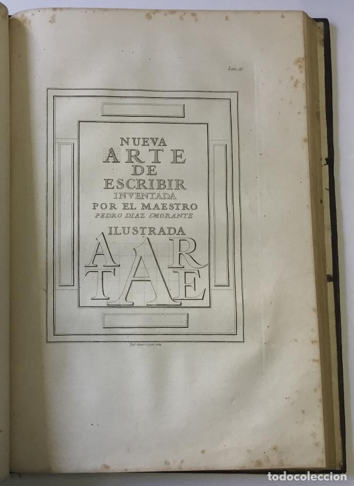 Libros antiguos: LAMINAS DE LAS REFLEXIONES SOBRE EL ARTE DE ESCRIBIR. 108 láminas. alfabetos instrumentos escritura - Foto 11 - 146509702