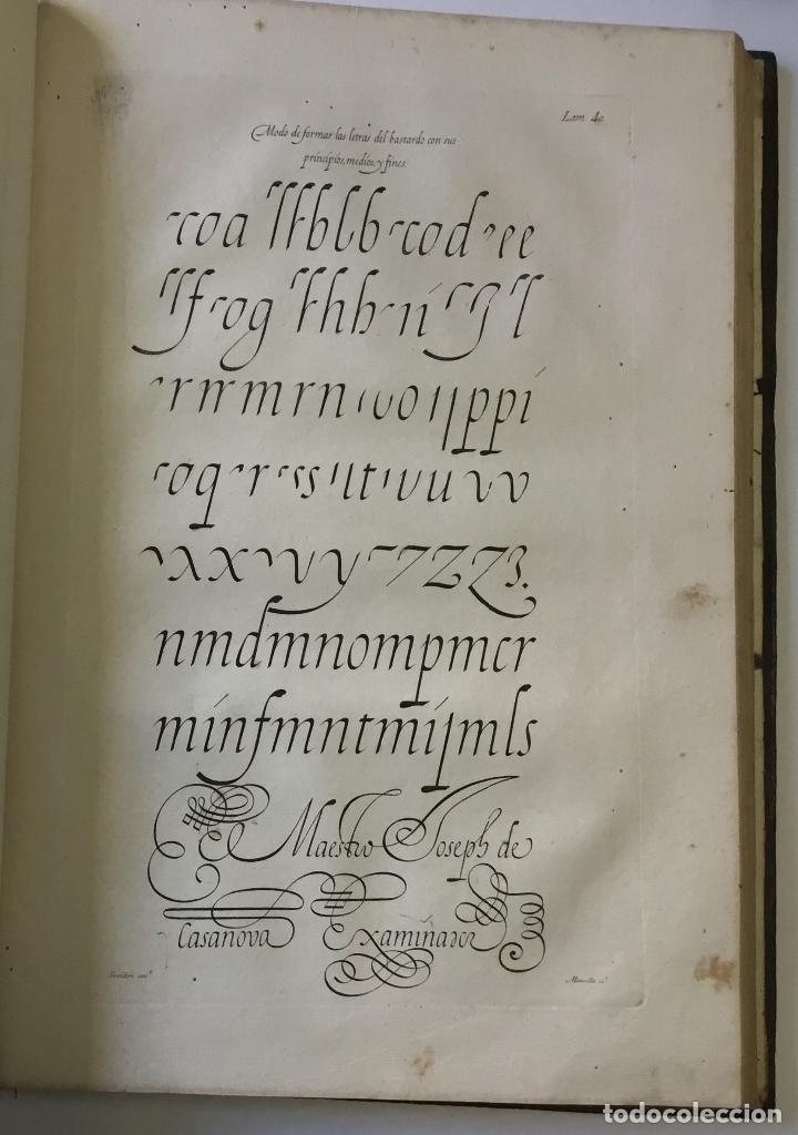 Libros antiguos: LAMINAS DE LAS REFLEXIONES SOBRE EL ARTE DE ESCRIBIR. 108 láminas. alfabetos instrumentos escritura - Foto 12 - 146509702