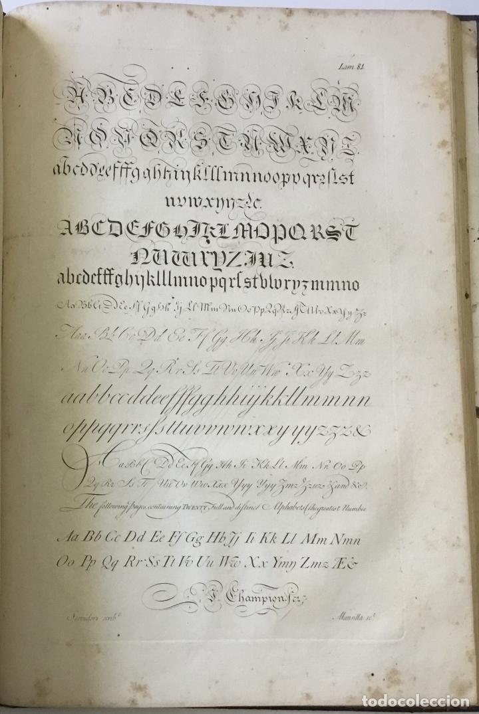 Libros antiguos: LAMINAS DE LAS REFLEXIONES SOBRE EL ARTE DE ESCRIBIR. 108 láminas. alfabetos instrumentos escritura - Foto 13 - 146509702