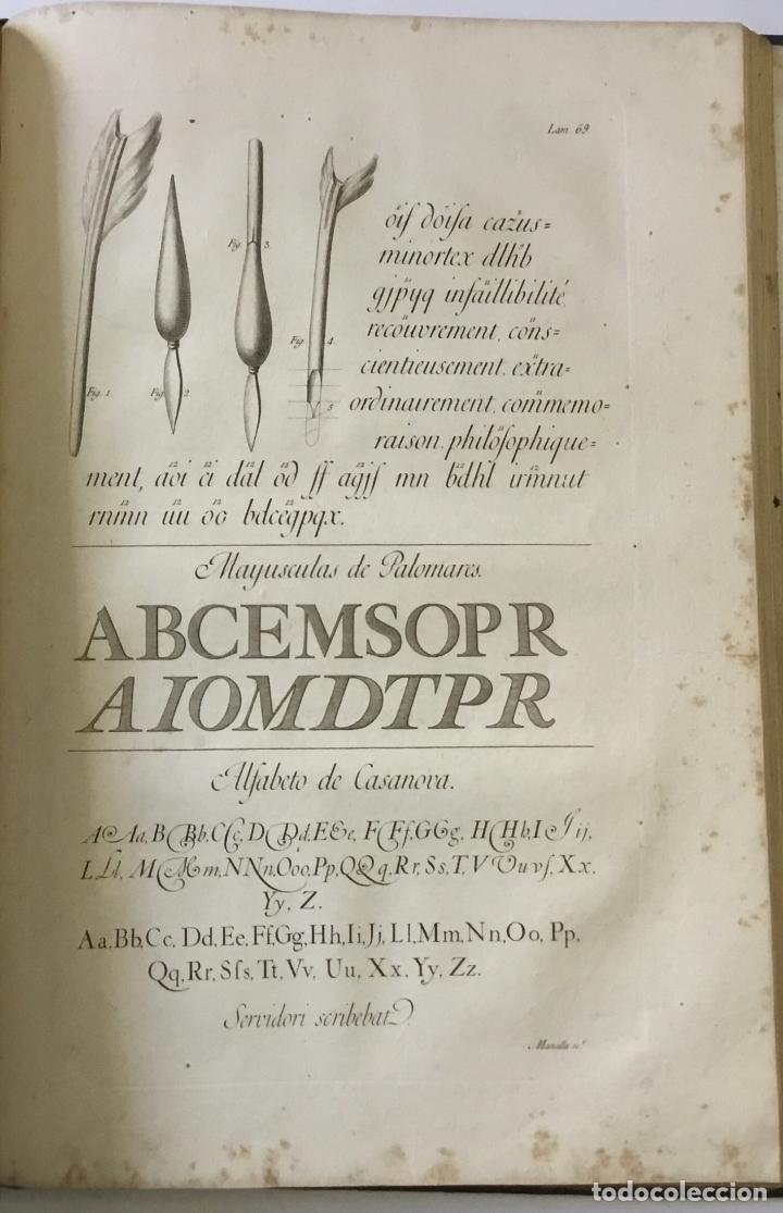 Libros antiguos: LAMINAS DE LAS REFLEXIONES SOBRE EL ARTE DE ESCRIBIR. 108 láminas. alfabetos instrumentos escritura - Foto 5 - 146509702